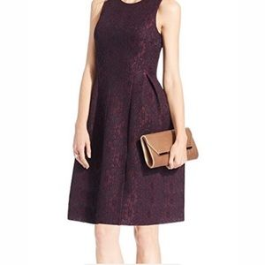 Calvin Klein fit and flare Scuba Lace dress 2